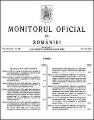 Monitorul Oficial, in format electronic, gratuit, integral si permanent