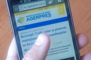 AGERPRES lansează platforma pentru telefonul mobil m.agerpres.ro