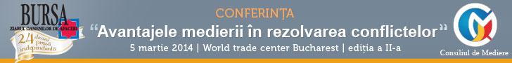 """Conferinta """"Avantajele medierii in rezolvarea conflictelor"""". Teme si invitati"""