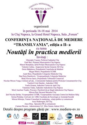 Participantii la Gala Excelentei in Mediere 2014 au taxe reduse la Conferinta Nationala de Mediere Transilvania, editia a II a