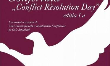 """Conferinta """"Conflict Resolution Day"""". Cum a fost?"""