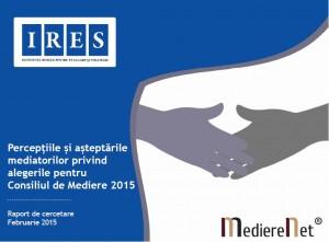 Percepțiile și așteptările mediatorilor față de alegerile pentru Consiliul de Mediere – 2015