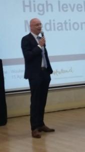 Wouter Reijers, Consulul onorific al Olandei la Cluj-Napoca: High level mediation(Video)