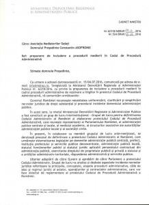 Includerea medierii in procedura solutionarii litigiilor din domeniul administrativ